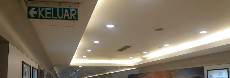 led emergency lights kuala lumpur convention centre malaysia